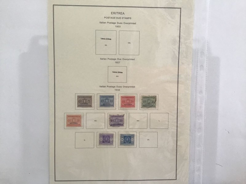 Eritrea postage due  stamps 1903-34  stamps pages  R30219