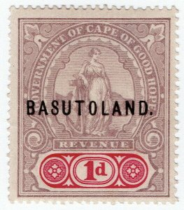 (I.B) Basutoland Revenue : Duty Stamp 1d
