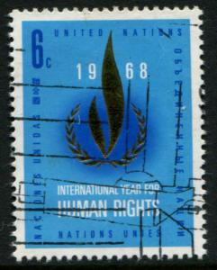 190 UN NY 6c Human Rights Flame, used