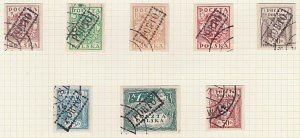 POLAND 1919 Krakow local overprint postage dues - 8 used....................A604