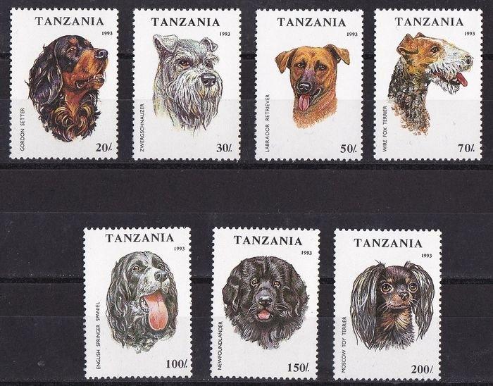 Tanzania 1993 Dogs Set MNH**