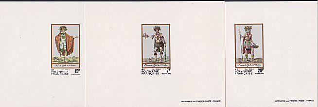 FRENCH POLYNESIA 1983 Costumes set of 3 deluxe proofs.......................4075