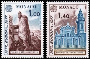 Monaco Scott 1067-1068 (1977) Mint NH VF