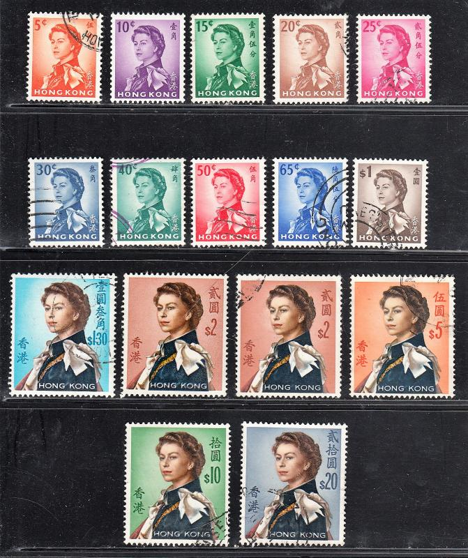 Hong Kong #203-217 Complete Used Set