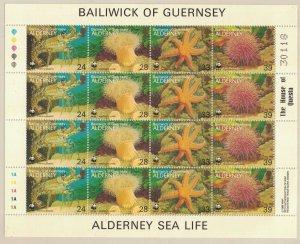Alderney SC69 Marine Life MNH 1993