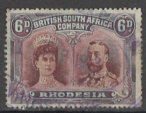 COLLECTION LOT OF #1771 RHODESIA # 108a PERF 15 1910 CV=$67.50
