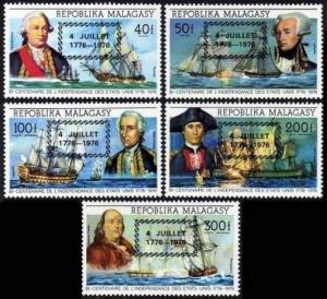 Malagasy 564-565,C164-C166,C167,MNH. US-200.4 JULLET 1776-1976 black overprint.