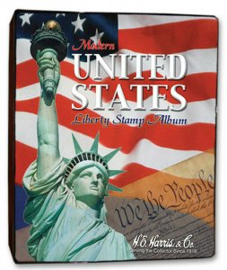HE Harris USA LIBERTY 1 STAMP ALBUM Part B 1995-2006 3-Ring BINDER & PAGES LIB I
