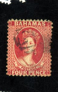 BAHAMAS #13 USED FINE THIN Cat $75