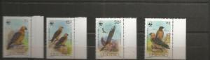 LESOTHO 1986 BIRDS SCOTT 512-5 MNH SCV $18