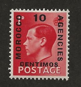 GREAT BRITAIN OFFICES - MOROCCO SC# 79a  FVF/MLH 1936