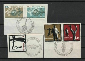 Netherlands 1965 Special Day of Issue Cancel Stamps Ref 28023