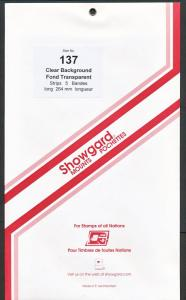 Showgard Stamp Mounts Size 137/264 CLEAR Background Pack of 5