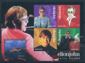 [95083] Malta 2003 Music Elton John Sheet MNH