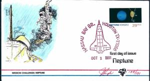 Beautiful Pugh Designed/Painted FDC Space Center Neptune #119 of 0nly 191