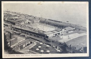 1944 London England RPPC Postcard Cover To Somme France Bathing Pool & Front