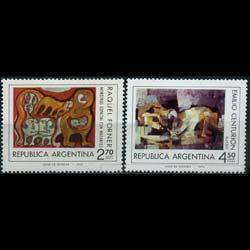 ARGENTINA 1975 - Scott# 1056-7 Modern Art Set of 2 NH