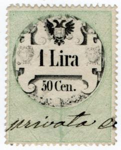 (I.B) Austria/Hungary Revenue : Stempelmarke 1.50L (Lombardy-Venetia)