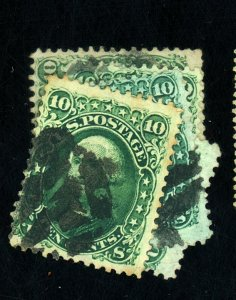68 (5) USED F-VF FANCY CANCELS Cat $275