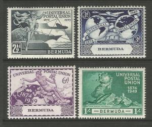 Bermuda 1949 UPU 75th Anniversary Commemorative Set Mounted Mint