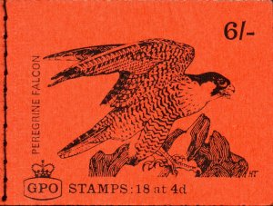 1968 (August) QP40 6s Booklet Complete 'Peragrine Falcon' Orange-red Cover