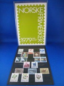 NORWAY 1979  -  SCOTT # 741//756  YEAR SET   MNH
