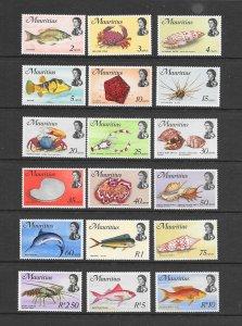 FISH - MAURITIUS #339-56  MNH