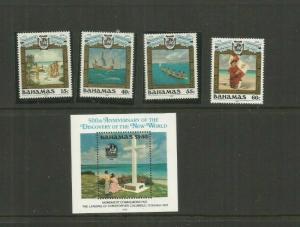 BAHAMAS 1992  SCOTT 749-53   MNH