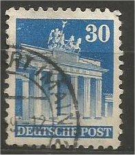 GERMANY, 1948, used 30pf blue, Brandenburg Scott 649