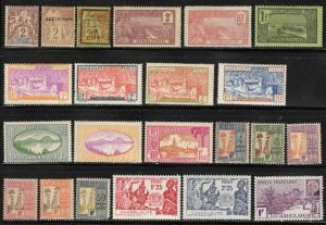 Guadeloupe Hinged Lot of 49 Different Stamps 20% of SCV $98.65 *Free Shipping*