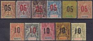 Mayotte #22-32  Unused  CV $28.35  (Z6946)