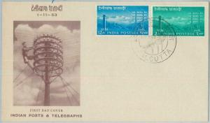 74854 - INDIA - POSTAL HISTORY - Cacheted FDC COVER Telegraph 1953