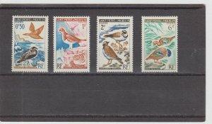 St. Pierre & Miquelon  Scott#  362-365  MH  (1963 Birds)