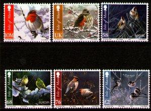 Isle of Man --2011- CHRISTMAS BIRDS MNH  set # 1455-1460