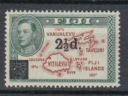 Fiji - 1941 KGVI 2 1/2 on 2p Sc# 136 - MLH (6723)