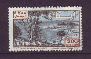 J24033 JLstamps 1961 lebanon hv of set used #c302 view