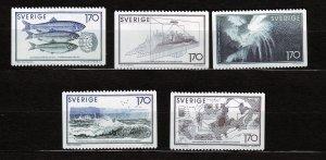 J23057 JLstamps 1979 sweden mnh set #1299-1303 designs