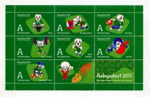 Postage Stamps of Turkmenistan  V Asian Indoor and Martial Arts Games  #3