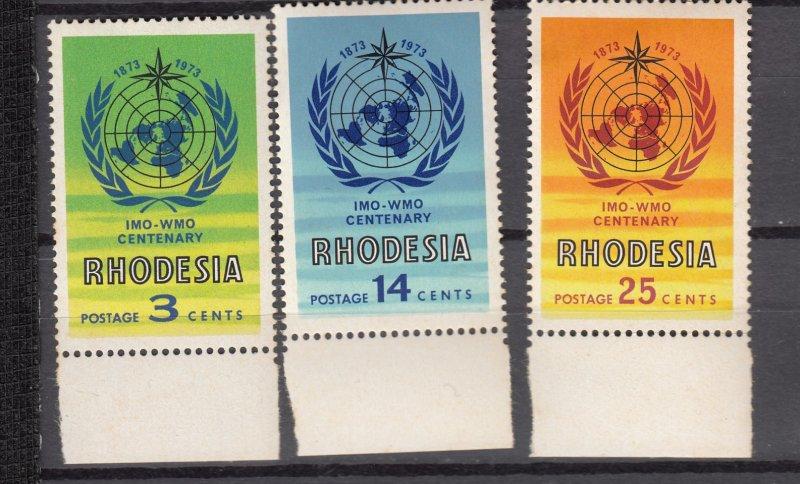 J27456 1973 rhodesia mnh set #321-3 designs