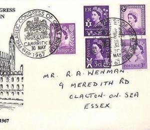 BM207 GB WILDING REGIONALS 1967 Philatelic Congress Cover Cambridge {samwells}