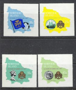 Norfolk Is 225-27 MNH 1978 Girl Guides (ap6813)