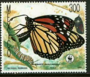 MEXICO 1561, Monarch Butterflies, World Wildlife Fund MNH
