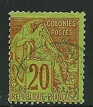 French colonies # 52, Used
