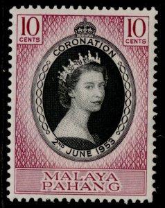 MALAYSIA - Pahang QEII SG74, 10c black & reddish purple 1953 CORONATION, NH MINT