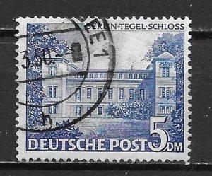 Germany Berlin 9N60 5m Tegel Castle single Used (z3)