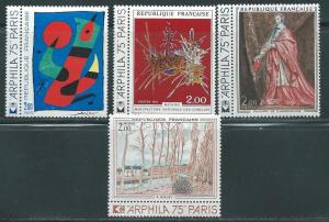 France 1394-7 1974 Art set with Labels MNH