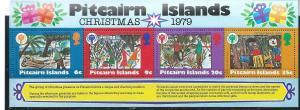 Pitcairn Islands #191a Christmas 79 Strip of 4 (MNH) CV$7.50