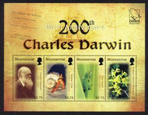 Montserrat Sc# 1223 MNH Charles Darwin (M/S)