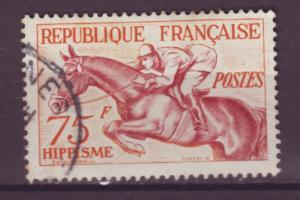 J15197 JLstamps 1953 france hv of set used #705 horse