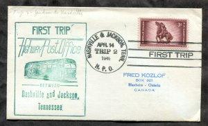 d97 - HPO Cover 1949 First Trip NASHVILLE and JACKSON Tenn